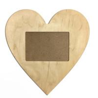 Рамка-серце фанера Ш-24 * В-22 (всередині 12*8)
