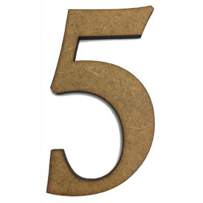 Цифра №5 ДВП 5.5*3