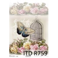 Бумага рисовая ITD A4 - R759