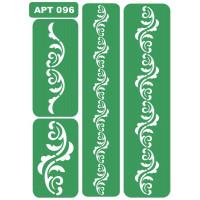 Трафарет многоразовый самоклейкий АРТ-096 15*20 см