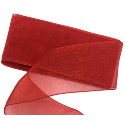 Стрічка (атлас/органза) 4см -2м червоний (проз)