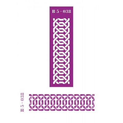 Трафарет  пластик прозрачный 5*16 B5-038