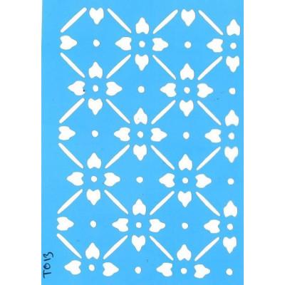 Трафарет  пластик T013 10*15