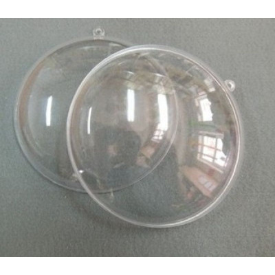 Медальйон розємний прозорий 11см