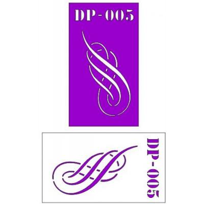 Трафарет  пластик прозрачный 7*12 DP-005