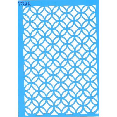 Трафарет  пластик T022 10*15