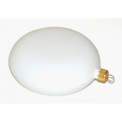 Медальйон пластиковый белый 12см