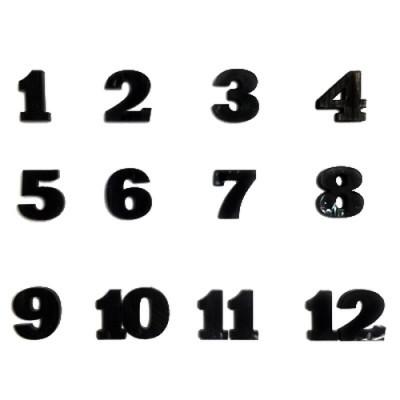 Набор цифр арабских №6 черный В-2.4