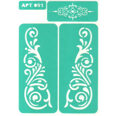 Трафарет многоразовый самоклейкий АРТ-051 15*20 см
