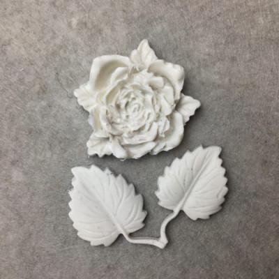 Гнучкий декор №125 (роза 3.5*3см, листочки 4*3см)