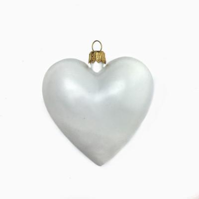 Сердце пластиковое белое 8см