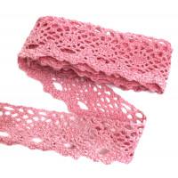 Мереживо х/б рожеве 028 Ш-3  1 метр