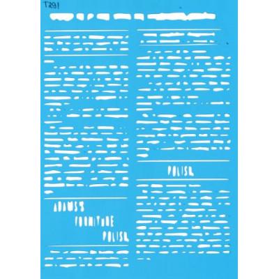 Трафарет  пластик Т291 15*20