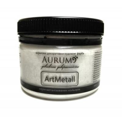 Фарба акрил. металік Aurum срібло 100г