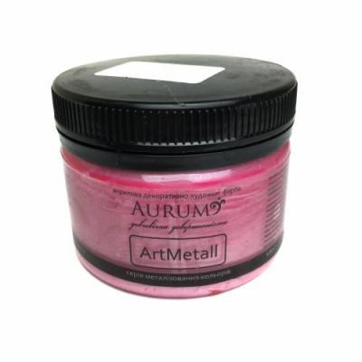 Фарба акрил. металік Aurum рожевий шовк 100г