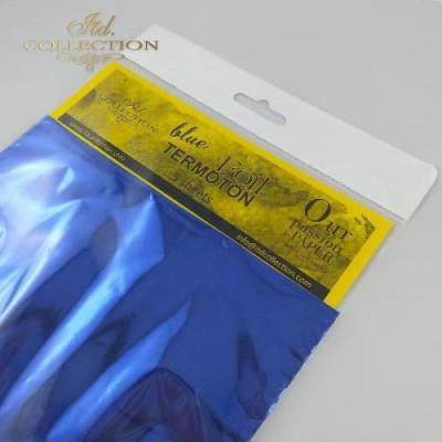 Фольга трансферна 15,5см*15,5см синя
