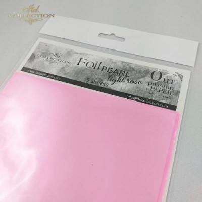 Фольга трансферна 15,5см*15,5см світло-рожева