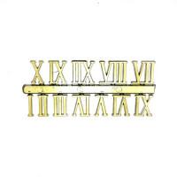 Цифри рим. золото 23мм А-34