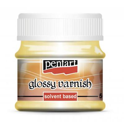 Лак глянцевий алкідний Pentart glossy varnish 50мл