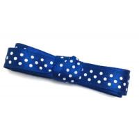 Стрічка (атлас горох) 1см -2м синій
