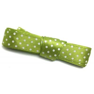 Стрічка (атлас горох) 1.5см -2м салатовий