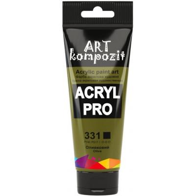 Фарба  Acryl PRO ART 75мл оливковий 331