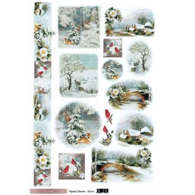 Sztuka Zdobienia 30*50см pejzaze zimowe - sz201