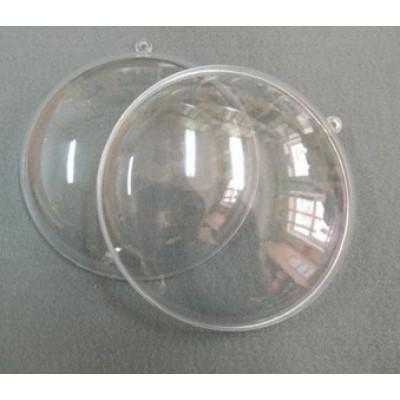 Медальйон розємний прозорий 7см