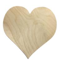 Панно-сердце фанера большое В-20 * Ш-20 * Т-0.6