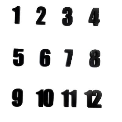Набір  цифр арабських №1 чорний В-1.8