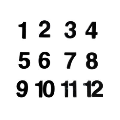 Набір  цифр арабських №3 чорний В-2.1