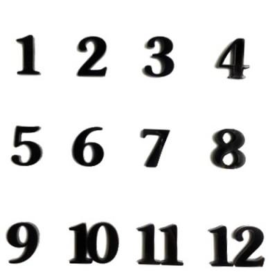 Набір  цифр арабських №4 чорний В-3