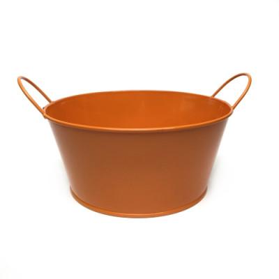 Кашпо низкое окрашенное оранжевое В-8 * Ш-18
