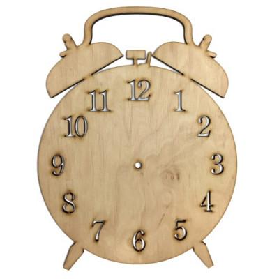 Часы будильник фанера 32*24.5