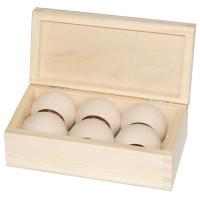 Комплект 6 колец + коробка (Польша) 9*17,5*6,3