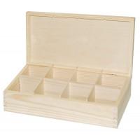 Коробка для чая 8 отделений (Польша) 29*16*7,5