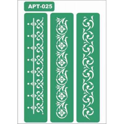 Трафарет многоразовый самоклейкий АРТ-025 15*20 см