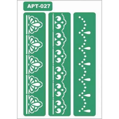 Трафарет многоразовый самоклейкий АРТ-027 15*20 см
