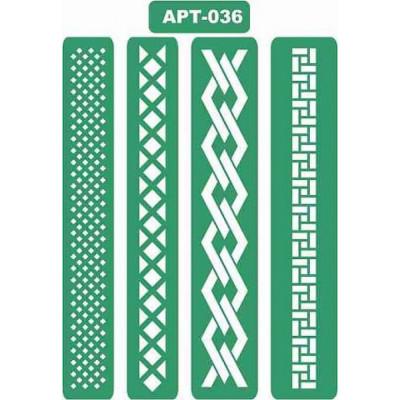 Трафарет многоразовый самоклейкий АРТ-036 15*20 см
