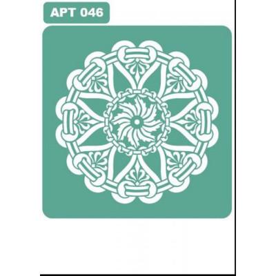 Трафарет многоразовый самоклейкий АРТ-046 15*15 см