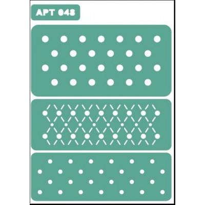 Трафарет многоразовый самоклейкий АРТ-048 15*20 см