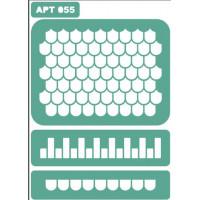 Трафарет многоразовый самоклейкий АРТ-055 15*20 см