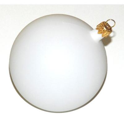 Шарик пластиковый белый Д-11см