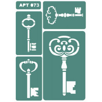 Трафарет многоразовый самоклейкий АРТ-073 15*20 см