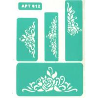 Трафарет многоразовый самоклейкий АРТ-012 15*20 см