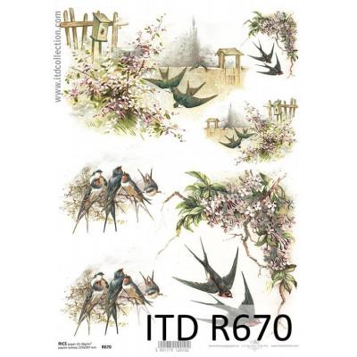 Бумага рисовая ITD A4 - R670