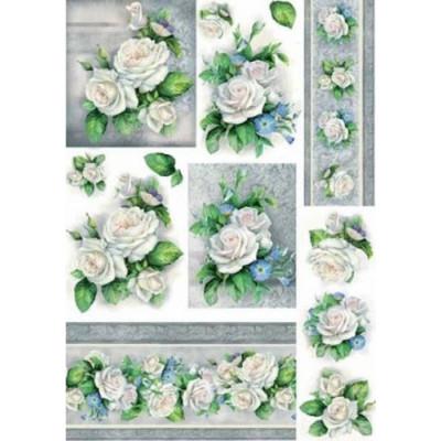 Renkalik 35*50см - Rose bianche-3 207